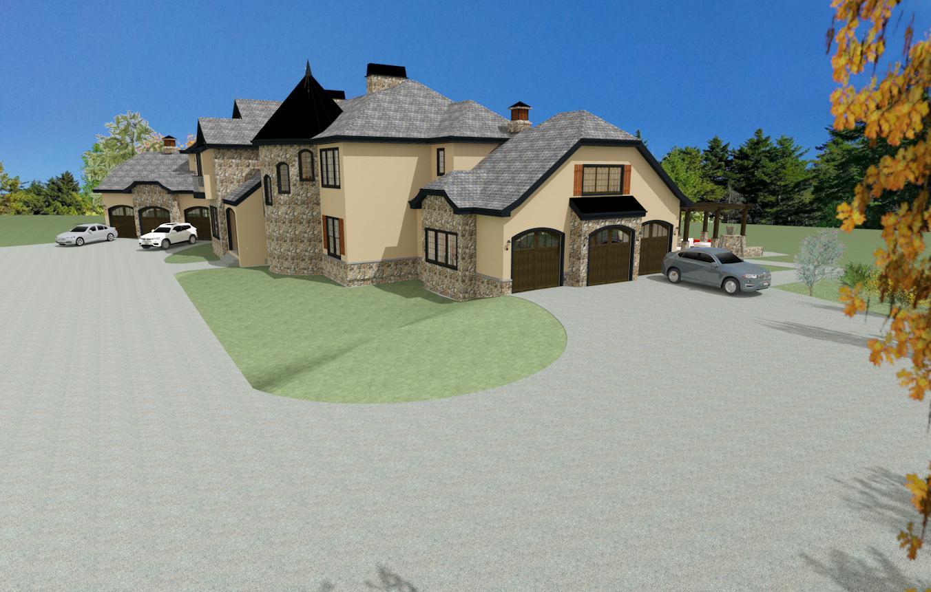 Elegant French Chateau Bearspaw Iarchdesign Ca